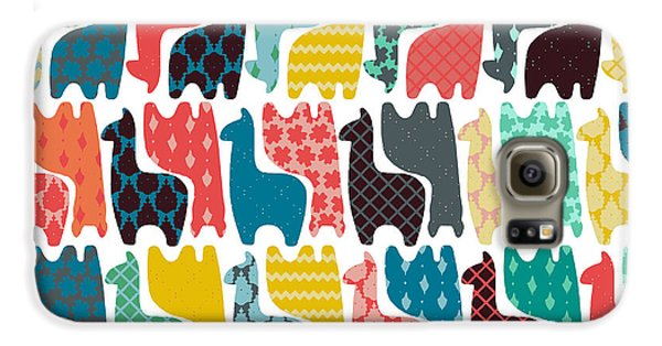 Baby Llamas Galaxy S6 Case by Sharon Turner