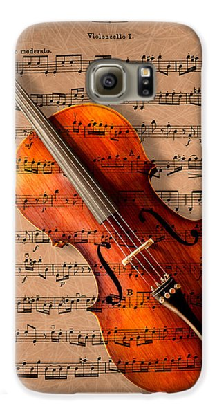 Music Galaxy S6 Case - Bach On Cello by Sheryl Cox