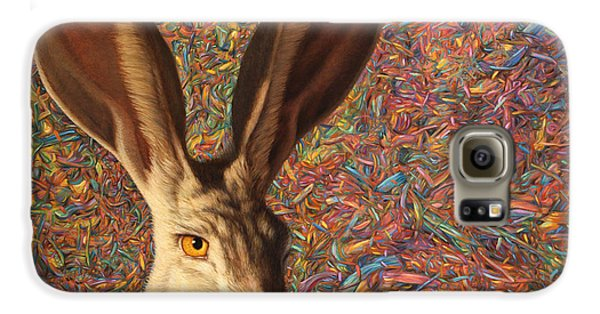 Rabbit Galaxy S6 Case - Background Noise by James W Johnson