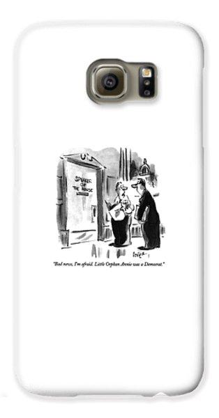 Newts Galaxy S6 Case - Bad News, I'm Afraid.  Little Orphan Annie by Lee Lorenz