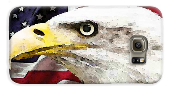 Bald Eagle Art - Old Glory - American Flag Galaxy S6 Case by Sharon Cummings