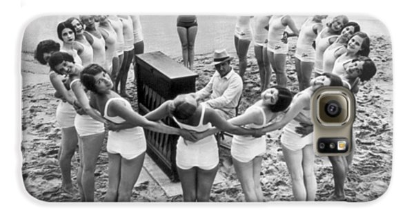 Ballet Rehearsal On The Beach Galaxy S6 Case