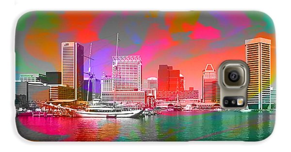 Baltimore Maryland Skyline Galaxy S6 Case by Marvin Blaine