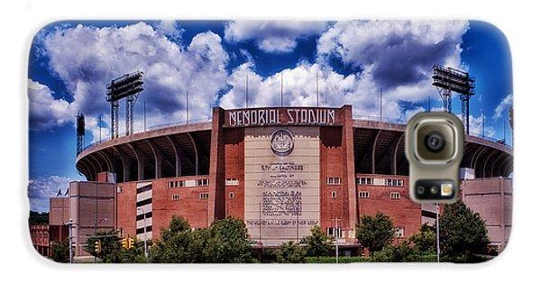 Oriole Galaxy S6 Case - Baltimore Memorial Stadium 1960s by Mountain Dreams