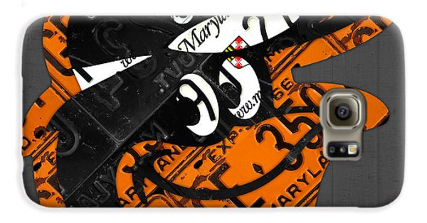 Baltimore Orioles Vintage Baseball Logo License Plate Art Galaxy S6 Case