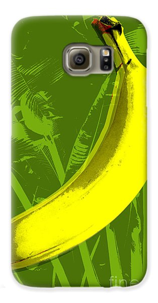 Banana Pop Art Galaxy S6 Case by Jean luc Comperat