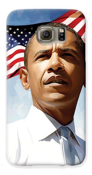 Barack Obama Artwork 1 Galaxy S6 Case by Sheraz A