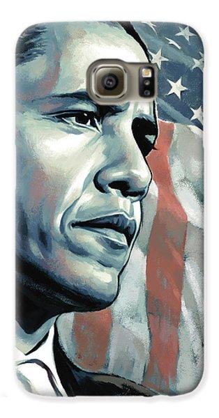 Barack Obama Artwork 2 B Galaxy S6 Case by Sheraz A