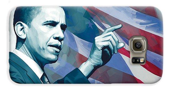 Barack Obama Artwork 2 Galaxy S6 Case by Sheraz A