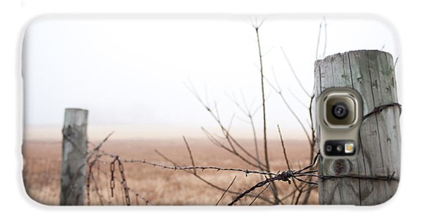 Barbed Wire Fence In The Fog Galaxy S6 Case