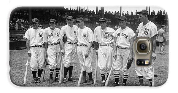 Baseball Players Galaxy S6 Case - Baseball All Star Sluggers by Underwood Archives