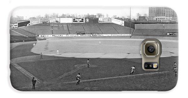 Baseball At Yankee Stadium Galaxy S6 Case by Underwood Archives