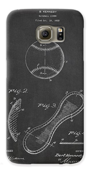 Baseball Cover Patent Drawing From 1923 Galaxy S6 Case by Aged Pixel