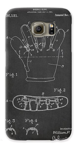 Baseball Gloves Galaxy S6 Case - Baseball Glove Patent Drawing From 1922 by Aged Pixel