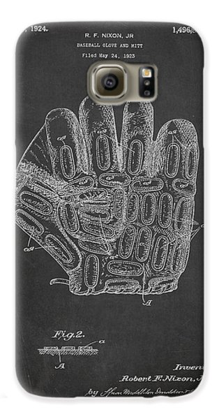 Baseball Gloves Galaxy S6 Case - Baseball Glove Patent Drawing From 1923 by Aged Pixel