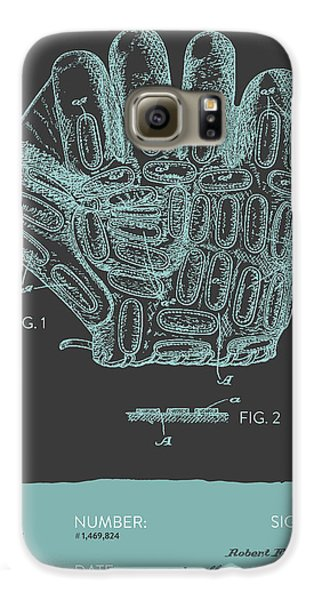 Baseball Gloves Galaxy S6 Case - Baseball Glove Patent From 1924 - Gray Blue by Aged Pixel