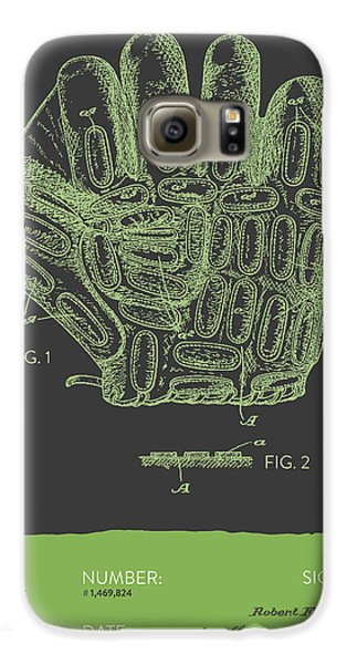 Baseball Gloves Galaxy S6 Case - Baseball Glove Patent From 1924 - Gray Green by Aged Pixel