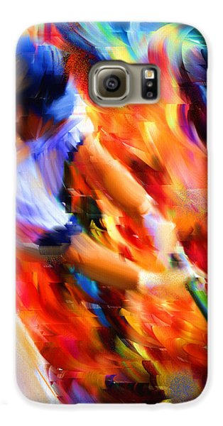 Baseball Players Galaxy S6 Case - Baseball IIi by Lourry Legarde