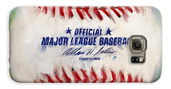 Baseball Players Galaxy S6 Case - Baseball Iv by Lourry Legarde