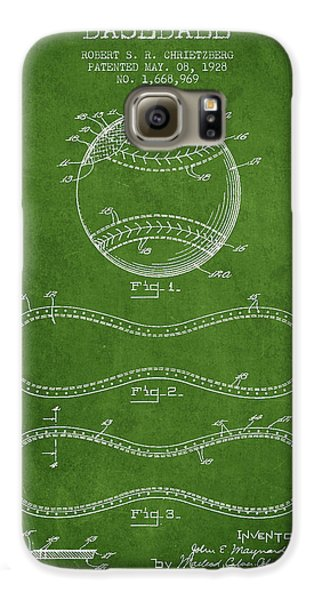 Baseball Patent Drawing From 1928 Galaxy S6 Case by Aged Pixel