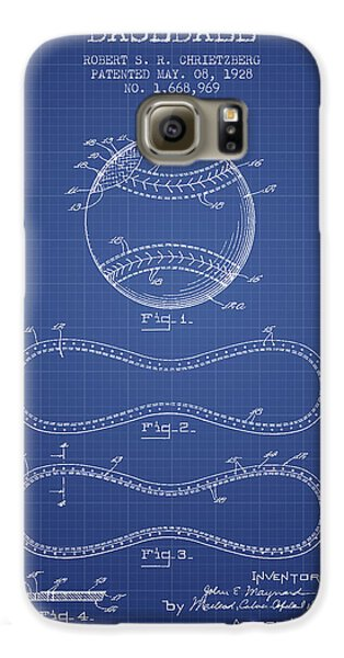 Baseball Patent From 1928 - Blueprint Galaxy S6 Case by Aged Pixel
