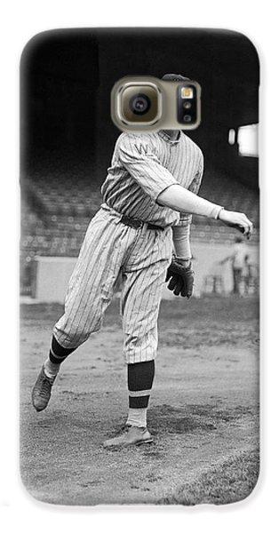 Baseball Players Galaxy S6 Case - Baseball Star Walter Johnson by Underwood Archives
