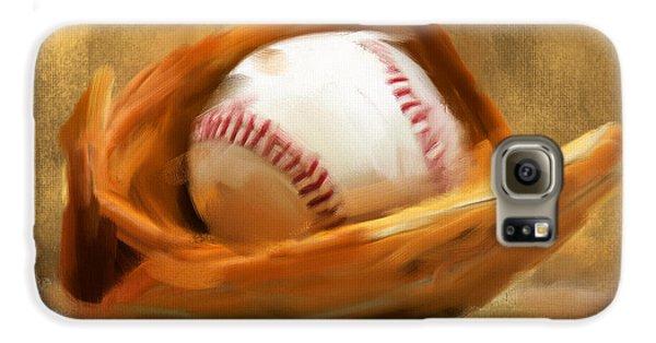 Baseball Players Galaxy S6 Case - Baseball V by Lourry Legarde