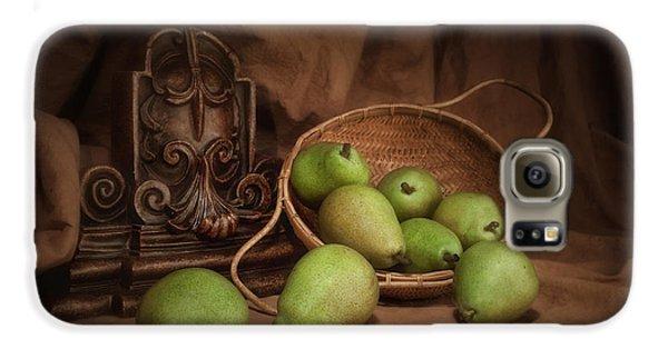 Basket Of Pears Still Life Galaxy S6 Case by Tom Mc Nemar