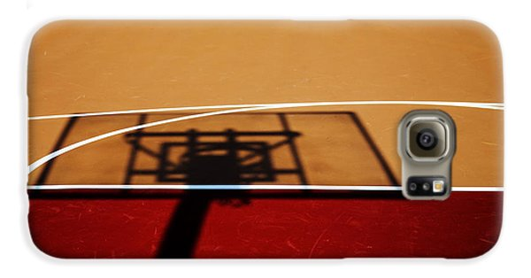 Basketball Shadows Galaxy S6 Case by Karol Livote