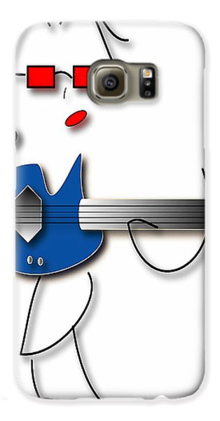 Bass Guitar Girl Galaxy S6 Case by Marvin Blaine