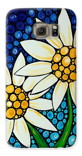 Bathing Beauties - Daisy Art By Sharon Cummings Galaxy S6 Case by Sharon Cummings