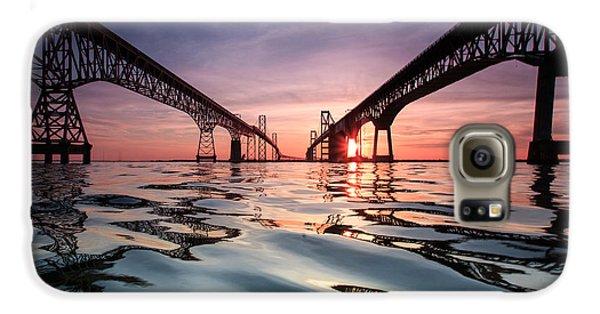American Landmarks Galaxy S6 Case - Bay Bridge Reflections by Jennifer Casey