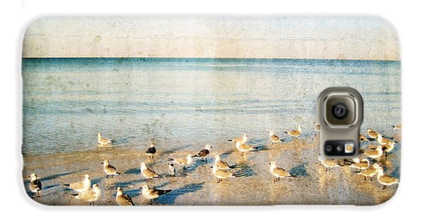 Beach Combers - Seagull Art By Sharon Cummings Galaxy S6 Case by Sharon Cummings