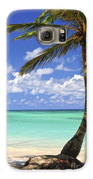 Beach Of A Tropical Island Galaxy S6 Case