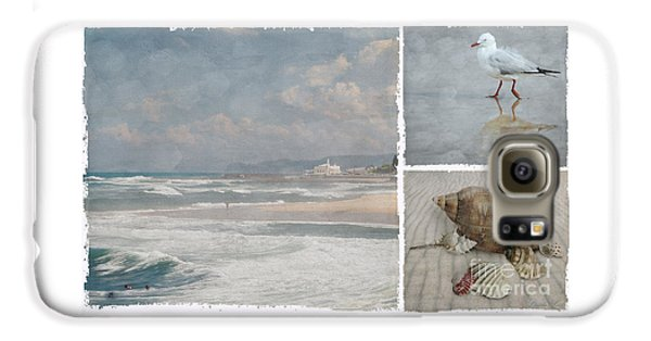 Beach Triptych 1 Galaxy S6 Case