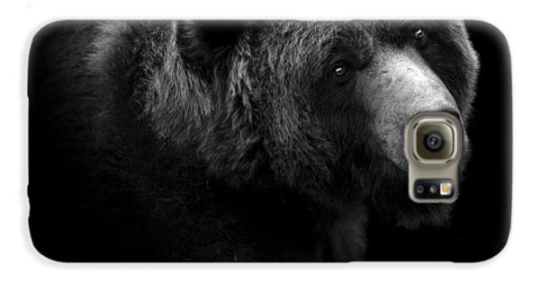 The White House Galaxy S6 Case - Portrait Of Bear In Black And White by Lukas Holas