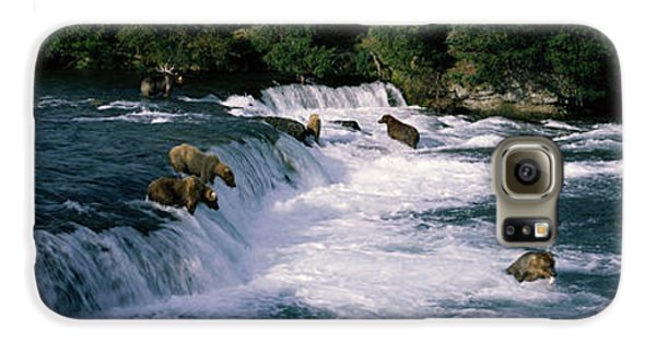 Bears Fish Brooks Fall Katmai Ak Galaxy S6 Case