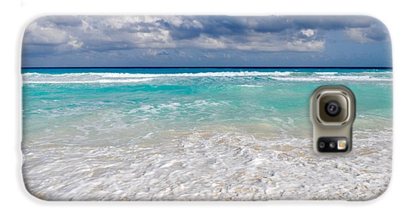 Beautiful Beach Ocean In Cancun Mexico Galaxy S6 Case