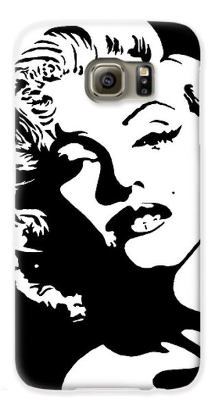 Galaxy S6 Case featuring the painting Beautiful Marilyn Monroe Original Acrylic Painting by Georgeta  Blanaru