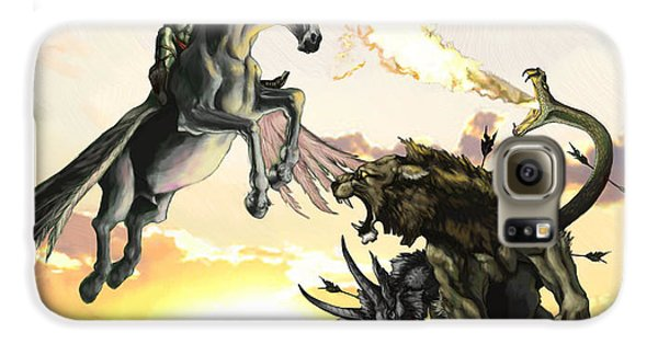 Bellephron Slays Chimera Galaxy S6 Case by Matt Kedzierski