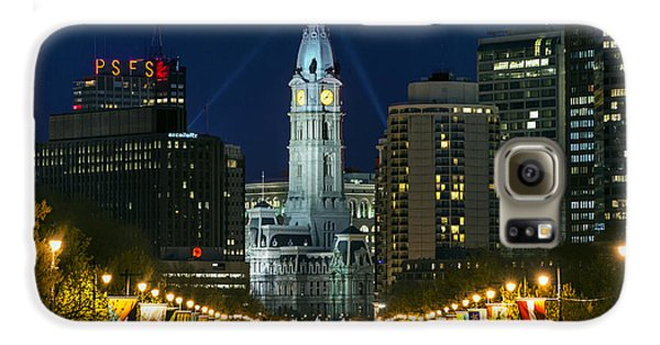 Ben Franklin Parkway And City Hall Galaxy S6 Case