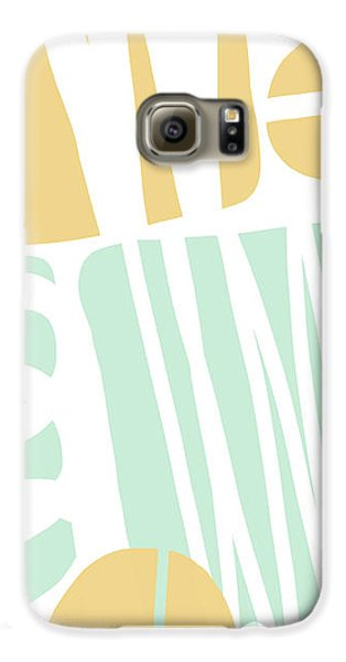 Bento 1- Abstract Shape Painting Galaxy S6 Case by Linda Woods