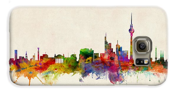 Berlin City Skyline Galaxy S6 Case by Michael Tompsett