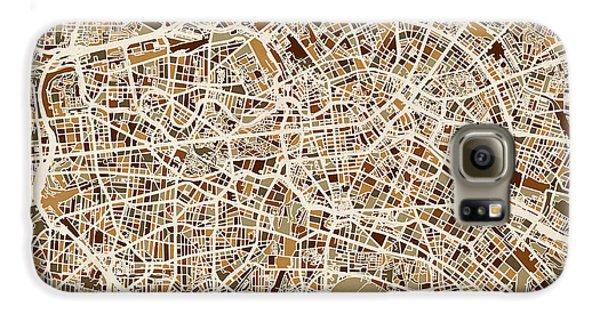 Berlin Germany Street Map Galaxy S6 Case by Michael Tompsett