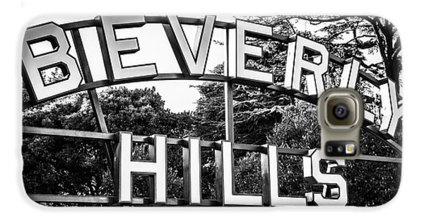 Beverly Hills Sign In Black And White Galaxy S6 Case by Paul Velgos