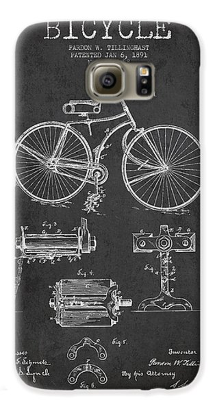 Bicycle Patent Drawing From 1891 Galaxy S6 Case