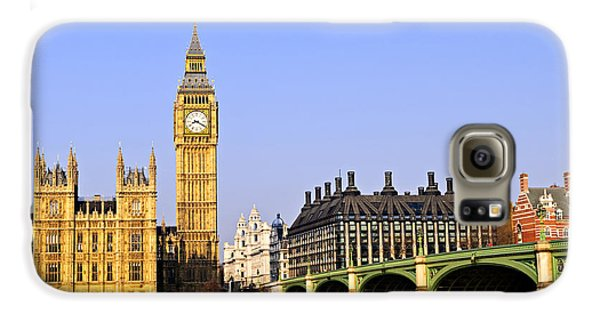 Big Ben And Westminster Bridge Galaxy S6 Case by Elena Elisseeva