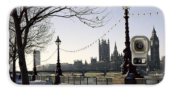 Big Ben Westminster Abbey And Houses Of Parliament In The Snow Galaxy S6 Case by Robert Hallmann