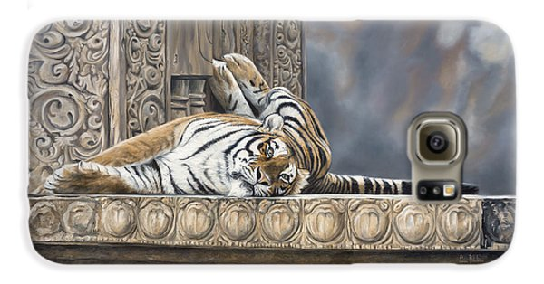 Big Cat Galaxy S6 Case by Lucie Bilodeau