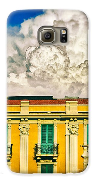 Galaxy S6 Case featuring the photograph Big Cloud Over City Building by Silvia Ganora